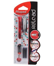 Maped Fountain Pen Reload - Red And White