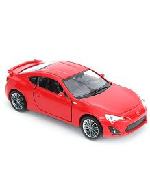 Welly Die-Cast Pullback Toyota 86 With Rear Wings - Red