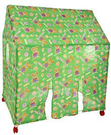 Lovely Play Tent House Birthday Print - Green