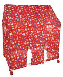 Lovely Play Tent House Multi Print - Red