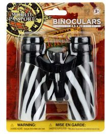 Wild Republic Zebra Print Binoculars - Black And White