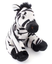 Wild Republic Zebra Soft Toy Black White - 20 cm