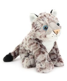 Wild Republic CK Baby Snow Leopard Soft Toy Grey - Height 12 Inch