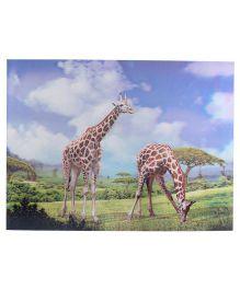 Wild Republic Giraffe 3D Poster - Multicolor