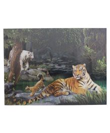 Wild Republic Tiger 3D Poster - Multicolor
