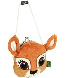 Wild Republic Clasp Purse Fawn Shape - Brown