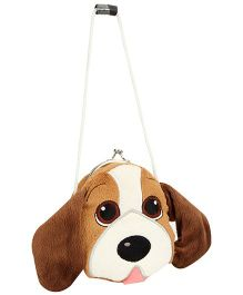 Wild Republic Clasp Purse Beagle Puppy Shape - Brown