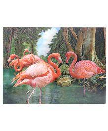 Wild Republic 3D Poster Flamingo Print - Multicolour