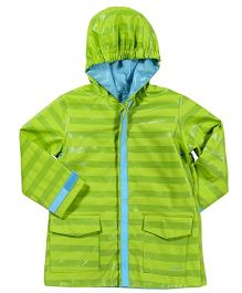 I Play Stripe Raincoat - Green