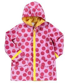 I Play Polka Dot Raincoat - Pink