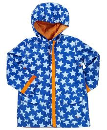 I play Star Print Raincoat - Blue