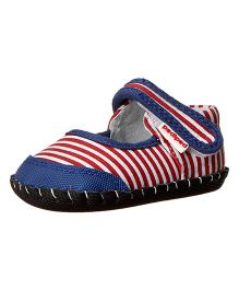 Pediped Strap Louisa Mary Jane Shoes - Nautical