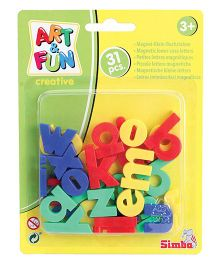 Simba Art and Fun Small Plastic Magnetic Letters - 31 Pieces