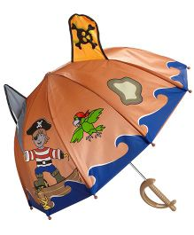 Kidorable Brown Pirate Umbrella