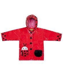 Kidorable Red Ladybug Raincoat