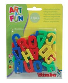 Simba Art & Fun Capital Magnetic Letters - 31 Pcs