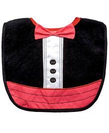 Dress Up Waterproof Absorbent Bib - Black Tuxedo