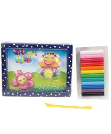 Kiddy Clay Cheerful Garden Picture Play Set - 12 Colours