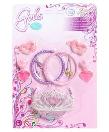 Steffi Love Jewellery Set Of Crown And 6 Collectibles