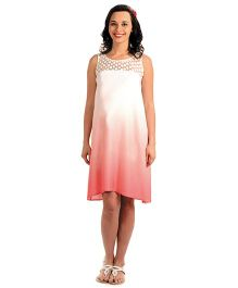 House Of Napius Radiation Safe Maternity Ombre Summer Dress - Rouge
