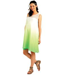 House Of Napius Radiation Safe Maternity Ombre Summer Dress - Green