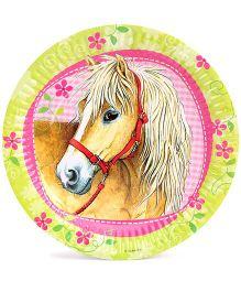 Riethmuller Paper Plates Horse Print - 9 pieces
