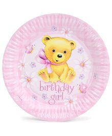 Riethmuller Paper Plates Teddy Print - Pink