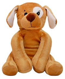 Surbhi Patch Dog Soft Toy Brown - 9 Inches