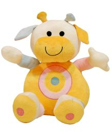 Surbhi Cow Soft Toy Yellow  - Length 35 cm