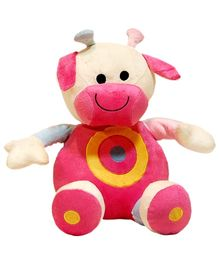 Surbhi Cow Soft Toy Pink  - Length 35 cm