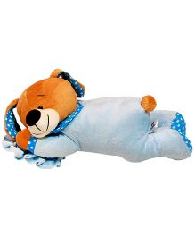 Surbhi Laying Dog On Pillow Soft Toy Blue - Length 30 cm