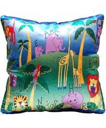 Surbhi Kids Cushion Animals Print - Multi Colour
