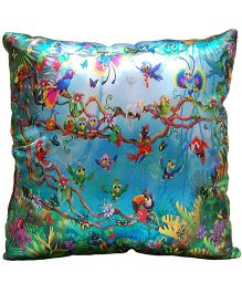 Surbhi Kids Cushion Birds Print - Multi Colour