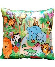 Surbhi Kids Cushion Jungle Theme - Multi Colour