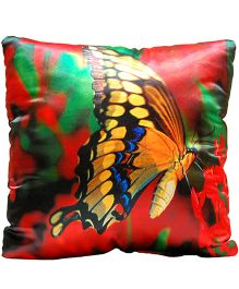 Surbhi Kids Cushion Butterfly Print - Multi Colour