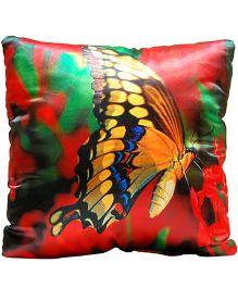 Surbhi Kids Cushion Butterfly Print - Multi Colour