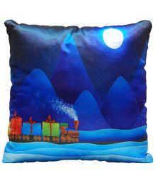 Surbhi Kids Cushion Train Print - Night Blue