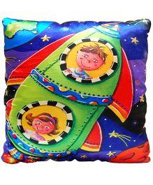 Surbhi Kids Cushion Rocket Print - Multi Colour