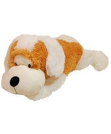 Surbhi Lying Dog Soft Toy Brown And White - Length 75 cm