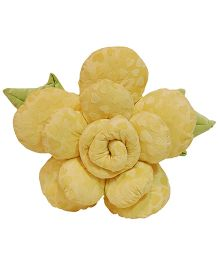Surbhi Rose Shaped Cushion Yellow - 11 Inches