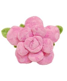 Surbhi Rose Shaped Cushion Pink - 11 Inches