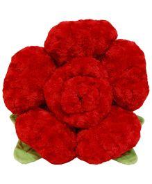 Surbhi Rose Shaped Cushion Red - Length 35 cm