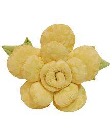 Surbhi Rose Shaped Cushion Yellow - Length 66 cm