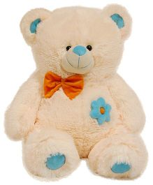 Surbhi Teddy Bear Soft Toy With Bow Cream - Height 80 cm