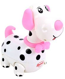 Mitashi SkyKidz Dashing Dalmatian Musical Toy - Pink & White