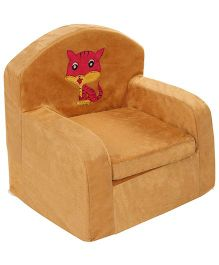 Luvely We Play Kids Sofa Chair Cat Embroidery - Brown
