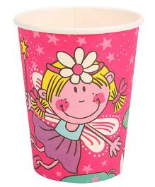 Riethmuller Paper Cups Fairy Print Set Of 8 - Pink