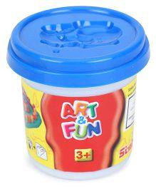 Art & Fun Soft Dough Pot Blue - 140 gm