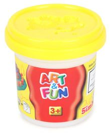 Art & Fun Soft Dough Pot Yellow - 140 gm