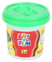 Art & Fun Soft Dough Pot Green - 140 gm